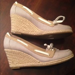 "Sperry Top-Sider ""Clarens"" Espadrille Wedges."